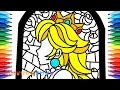 How to Draw Mario Odyssey, Stained Glass of Princess Peach #75 | Drawing Coloring Pages for Kids
