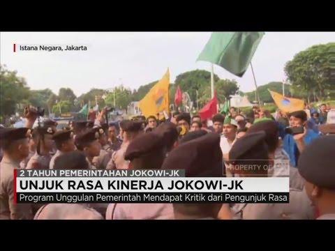 Demo 2 Tahun Kinerja Jokowi-JK Sempat Memanas