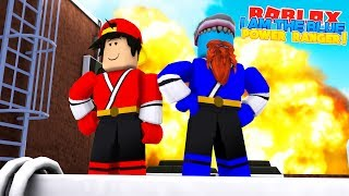 I AM THE BLUE POWER RANGER w/ Little Ropo - Sharky Gaming | Roblox