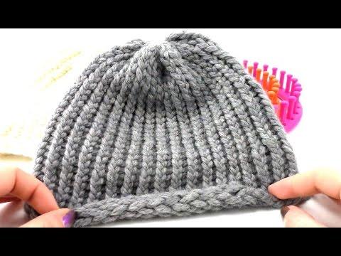 knitting loom m tze stricken stricken f r anf nger rundstricken winterm tze youtube. Black Bedroom Furniture Sets. Home Design Ideas