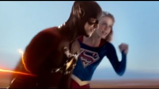 Supergirl and The Flash Race HD --- Supergirl/Flash Crossover --- Supergirl 1x18