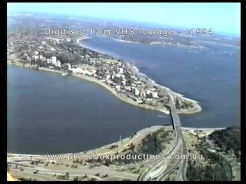 Perth Skyline from the air - c1994