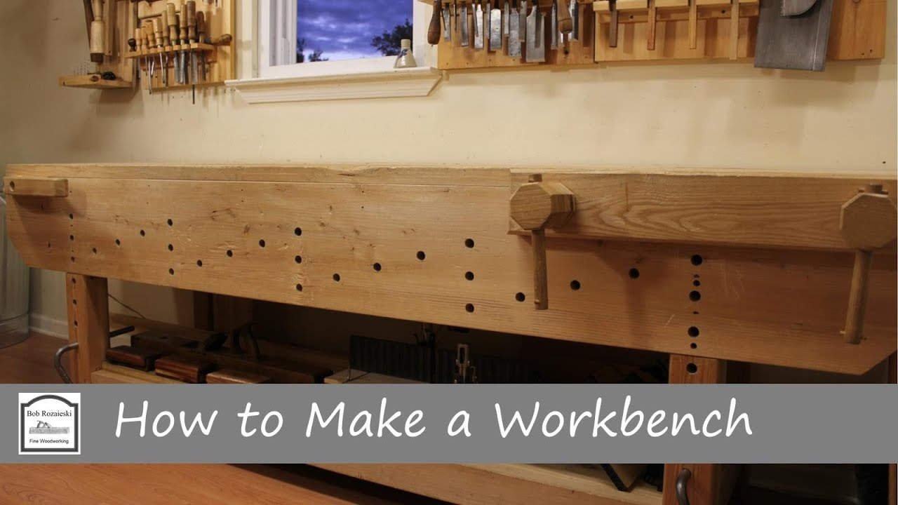 how to make a workbench with hand tools - part 3 (vises & workholding)