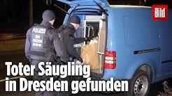 Polizei findet toten Säugling in Dresden | Mutter festgenommen