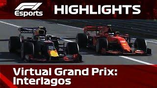 F1 Virtual Grand Prix Highlights, Interlagos | Aramco