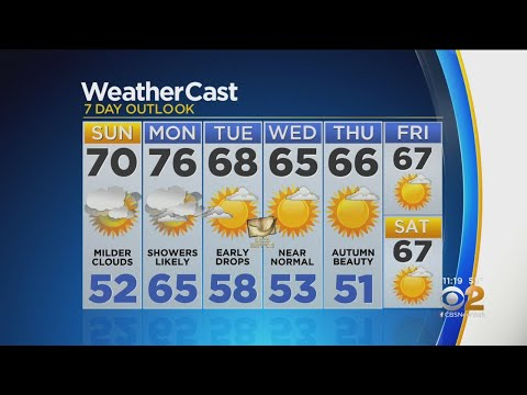 New York Weather: CBS2 10/5 Nightly Forecast at 11PM