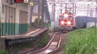 日本海縦貫線の一部である信越本線を通る貨物列車を、 少量ながらまとめ...