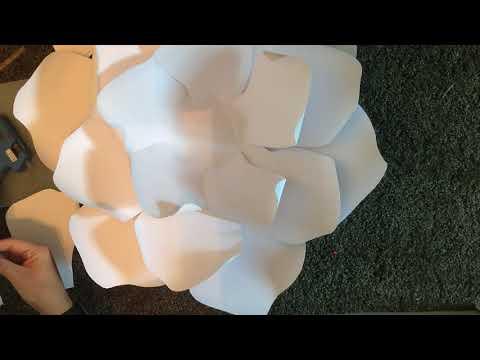 Gardenia Paper flower DIY Tutorial