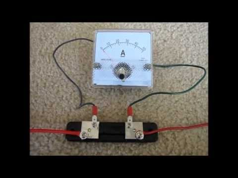 how to wire an ammeter and shunt youtube. Black Bedroom Furniture Sets. Home Design Ideas