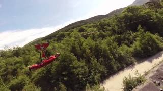 Wales Fastest zipline in the world - Zip World Velocity 2015