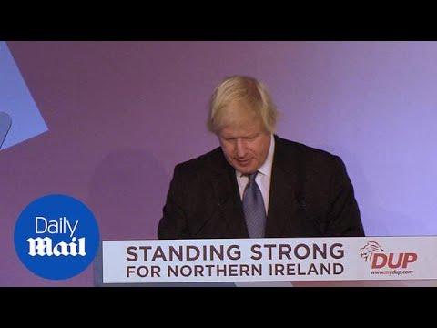 Boris Johnson SAVAGES Theresa May's Brexit deal at DUP conference