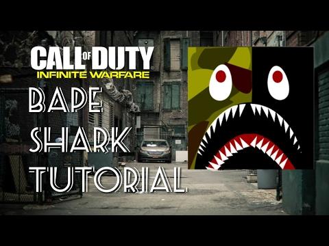 Bape Shark Emblem Tutorial Infinite Warfare Call Of Duty