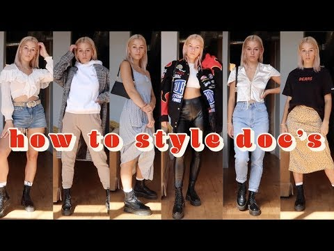 How to Style Dr. Martens -- Doc Martens lookbook