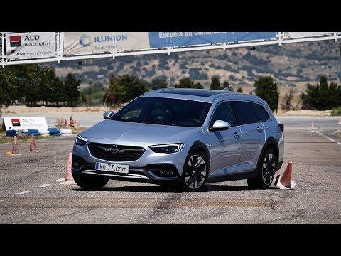 Opel Insignia Country Tourer 2018 - Maniobra de esquiva (moose test) y eslalon   km77.com