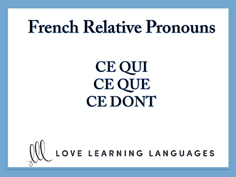 french relative pronouns ce que ce qui ce dont youtube. Black Bedroom Furniture Sets. Home Design Ideas