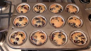 Healthy Blueberry Muffins (paleo)