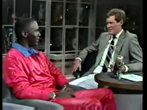 Michael Jordan When He Was 23 Years Old On David Letterman's then NBC show. Funny Interview.