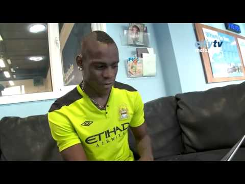 25.10.11 Man City striker Mario Balotelli answers questions in typical Balotelli style. Top Man....