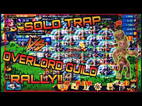 Lords Mobile| SOLO TRAP Vs OVERLORD GUILD RALLY!! K:535