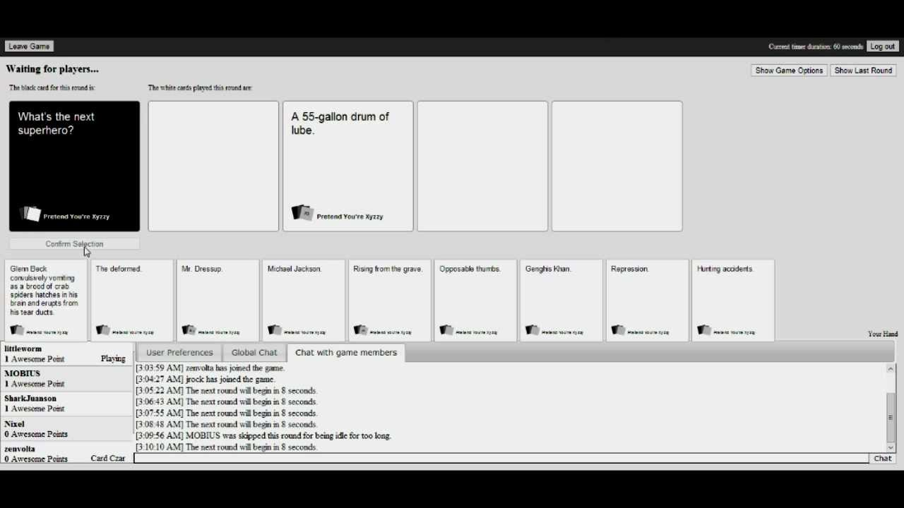 Pretend You Re Xyzzy Cards Against Humanity Played By The Best Friends Club Pt 1 Youtube