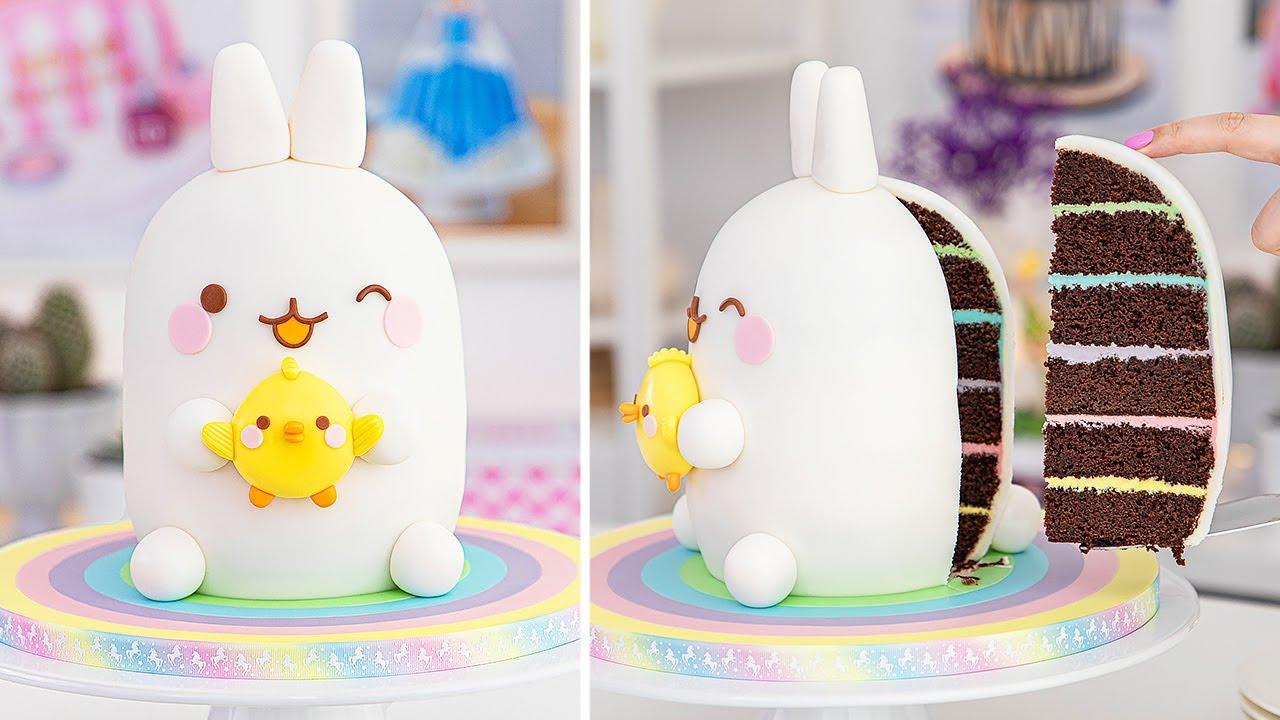 How to make a Molang & Piu Piu Cake - Cake decorating tutorial - Tan Dulce