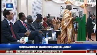 commissioning of obasanjo presidential library obasanjo speaks pt 3