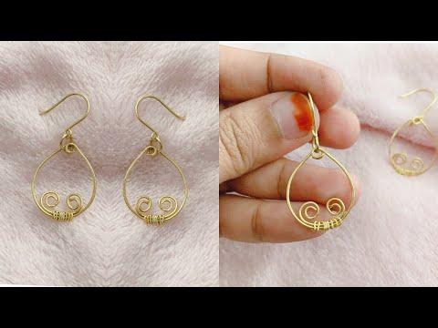 Diy earrings/making simple and easy hoop earrings/how to make hoop earrings in 5 minutes