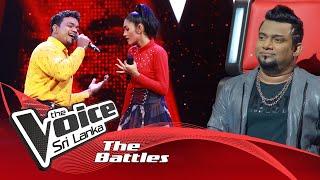 The Battles : Kavindu Dulshan V Risuri Pehesara |  Kuweni (කුවේණී | The Voice Sri Lanka Thumbnail