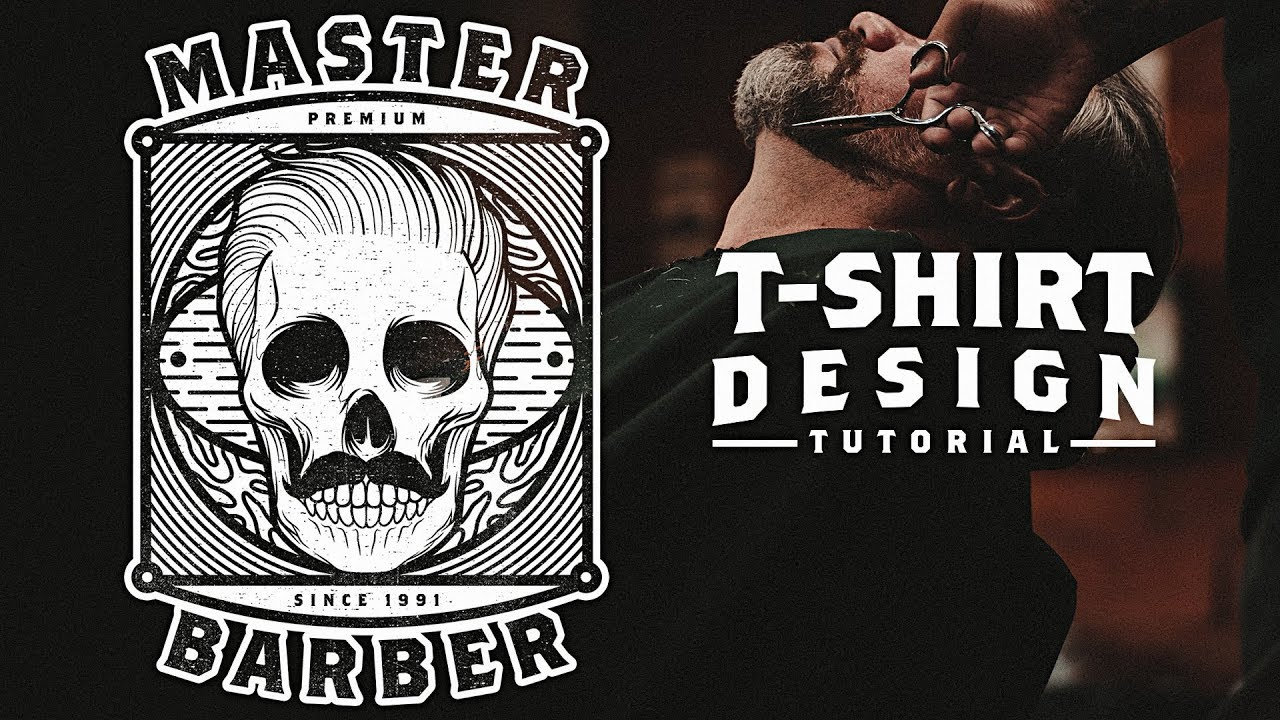 T Shirt Design Tutorial Master Barber Artwork Using Photoshop