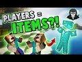 THE PLAYERS ARE ITEMS CHALLENGE + TEAMERS! ( Hypixel Skywars )