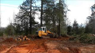 Liebherr Track Loader Clearing Trees
