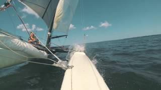 SAILING THE SWEDISH LAKE - Hobie Cat Tiger F18 Catamaran