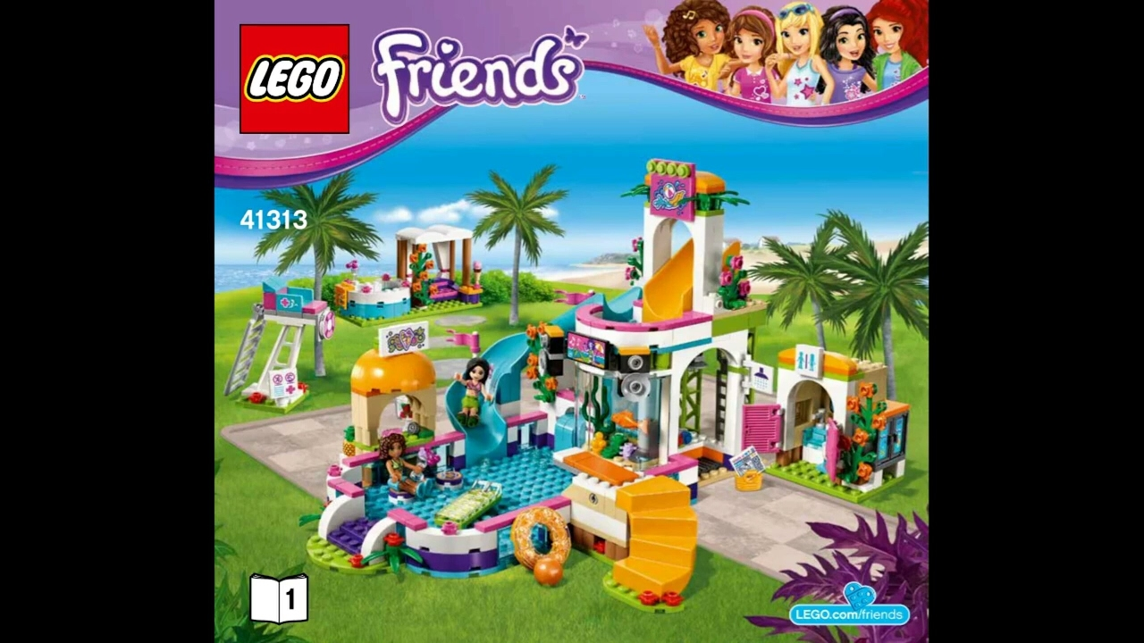 2017 Lego Friends Heartlake Summer Pool Instruction 41313 Youtube