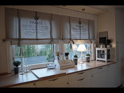 Diy Kitchen Curtains That Are Very Easy To Make - Youtube