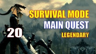 Skyrim Survival Mode Walkthrough MAIN QUEST Part 20 - A Blade in the Dark