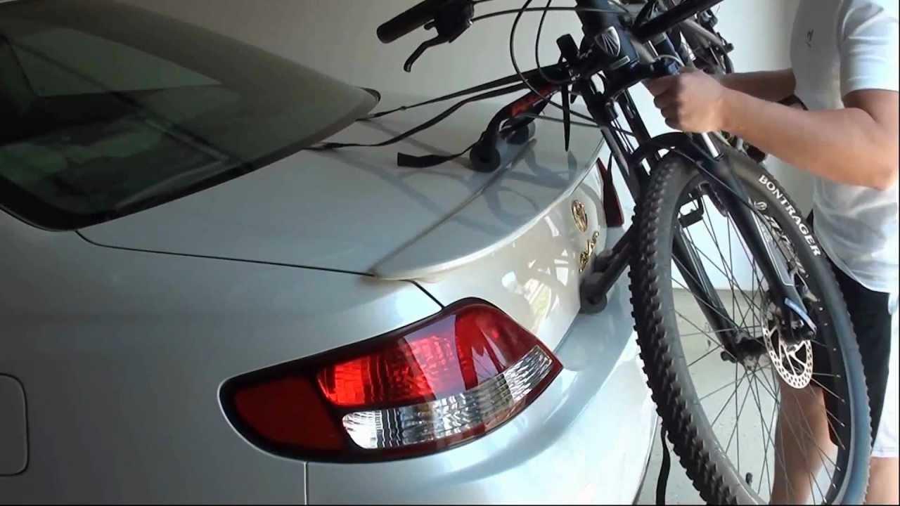 review bike rack allen sports trunk mount 2 bikes