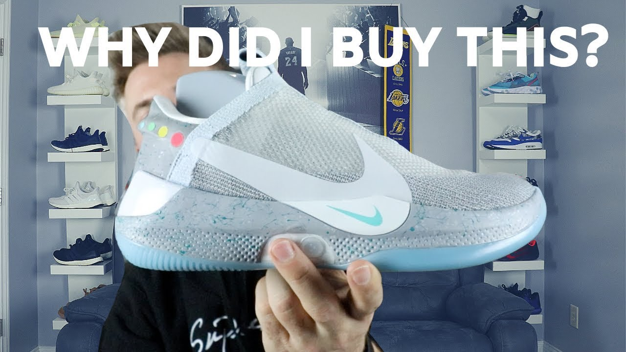 The New Nike Adapt Bb Mag Future Sneaker Review On Feet Youtube