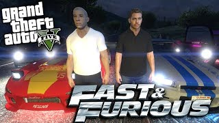 GTA 5 Mods - FAST AND THE FURIOUS MOD w/ PAUL WALKER, VIN DIESEL & CAR PACK (GTA 5 Mods Gameplay)