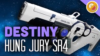 DESTINY Hung Jury SR4 Fully Upgraded Legendary Scout Rifle Review (The Taken King)
