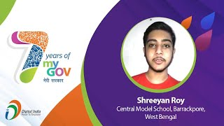 """""""Government Has Become Digitalized"""" - Shreeyan Roy, Central Model School, Barrackpore, West Bengal"""