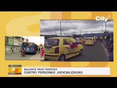 Balance del primer día de paro de taxistas en Bogotá | CityTv