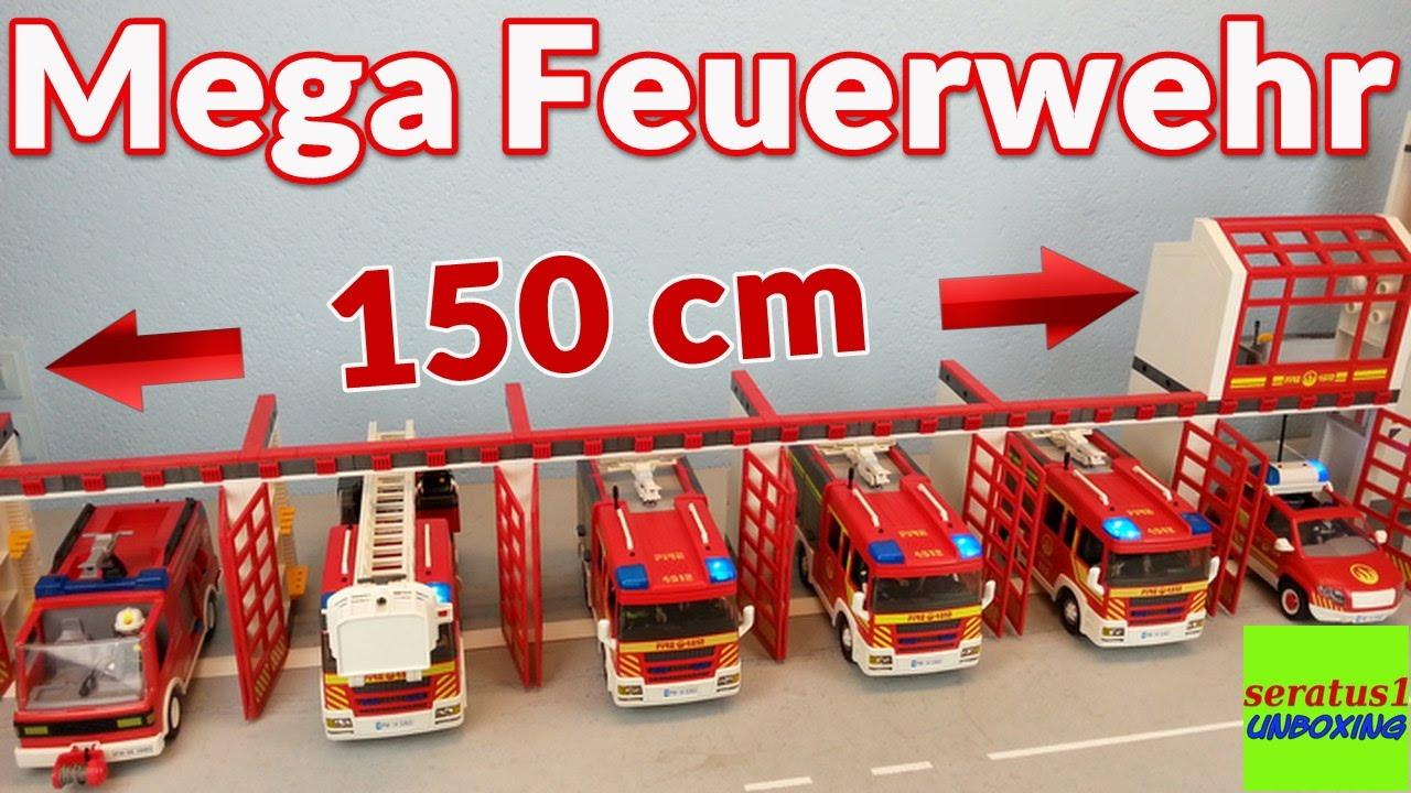 Playmobil Mega Feuerwehrstation Erweiterung 6 Tore Seratus1 Unboxing