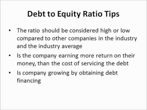 Debt to Equity Ratio - Fundamentals Stocks Video - YouTube