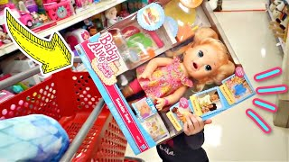 GETTING A BABY ALIVE AND SHOPKINS AT TARGET!