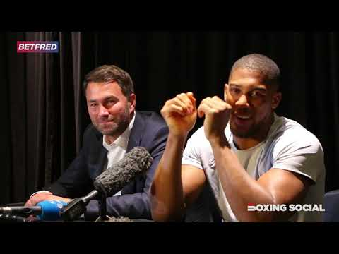 ANTHONY JOSHUA FACES THE MEDIA FOLLOWING HIS SHOCK UPSET DEFEAT TO ANDY RUIZ IN NEW YORK