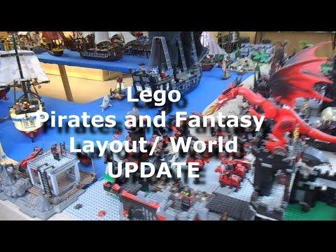 My HUGE Lego Pirates, Castle, LOTR, Fantasy, City Layout/ World UPDATE