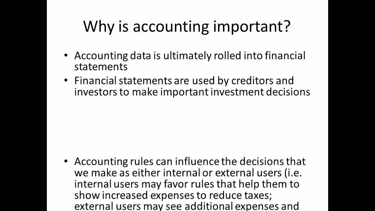 Why is Accounting Important? - YouTube