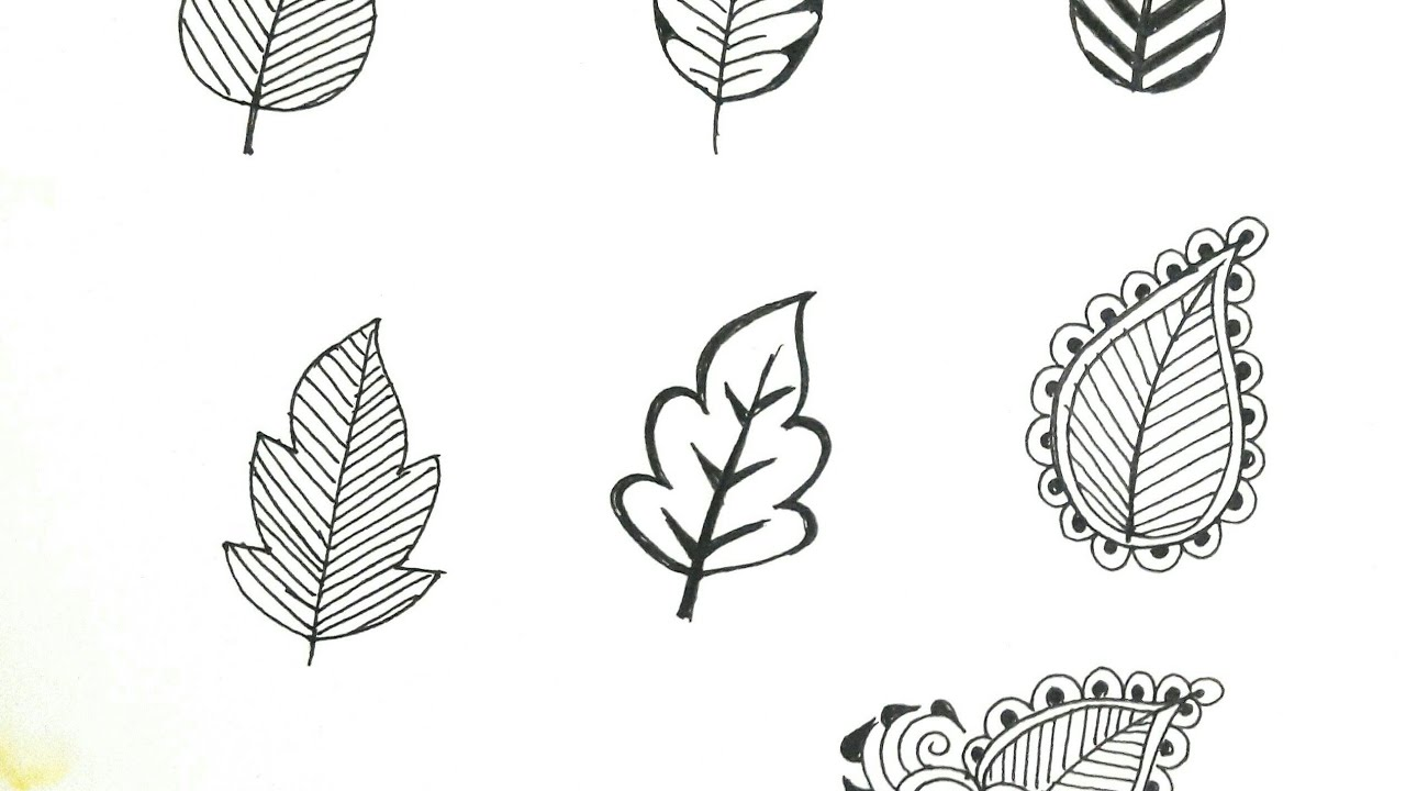 Learn How To Draw Henna Leaves Mehndi Design For Beginners Tutorial