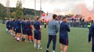 Lazio - Roma Pre derby at Trigoria and Formello