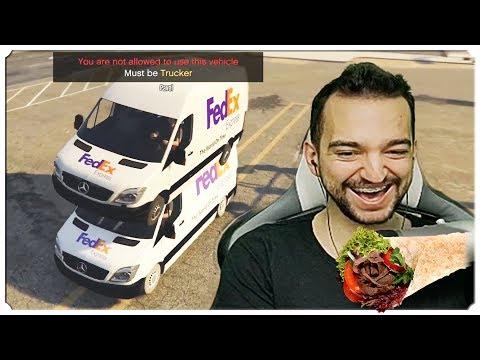 GTA Online MOD FiveM - PRAWDZIWE ŻYCIE KURIERA! /Pavel